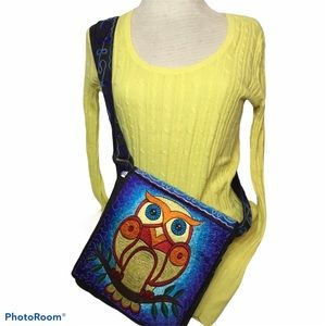 BOHO OWL CROSSBODY EMBROIDERY BAG
